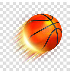 Basketball sport ball flying vector
