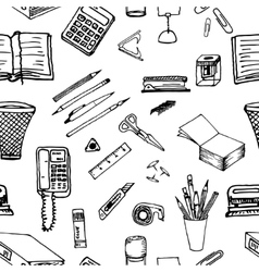 Black and white background- office stationery vector image