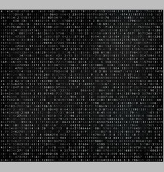 black matrix background with digits vector image