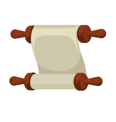 blank ancient paper scroll or parchment vintage vector image