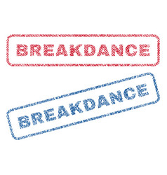 Breakdance textile stamps vector
