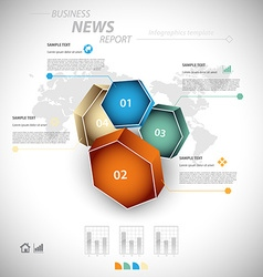 Business infographic template vector