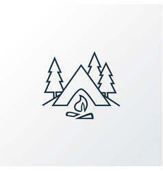 camping icon line symbol premium quality isolated vector image