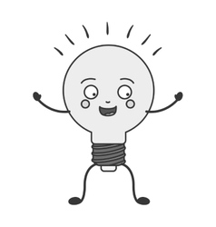cartoon bulb light vector image