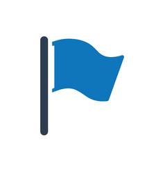 Checked flag icon vector