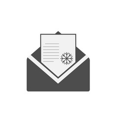 christmas icon christmas email message icon vector image