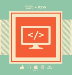 Coding symbol icon vector