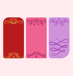 collection dividers cards calligraphic vector image