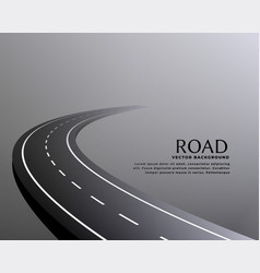 Curved perspective road pathway background vector