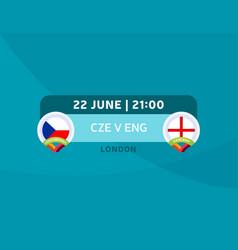 Czech republic vs england match football 2020 vector