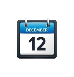 December 12 Calendar icon vector