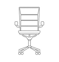 Dotted shape chair office style object design vector