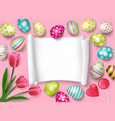 easter congrats frame composition vector image