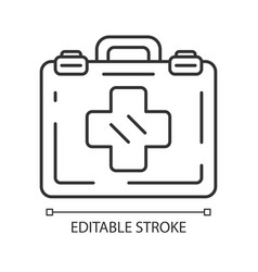 Emergency help linear icon vector