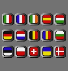European flags vector image