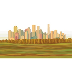 fall city vector image vector image