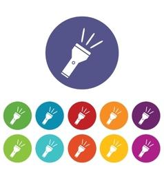 Flashlight icon set vector