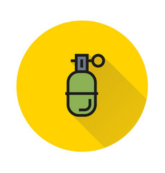 Grenade in line style on white background vector
