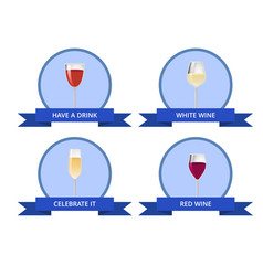 have a drink white and red wine celebrate it card vector image