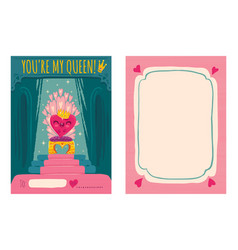 heart on throne vector image