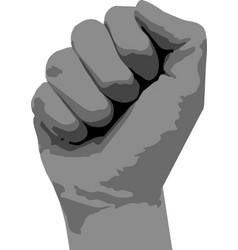 Icon fist raised up vector