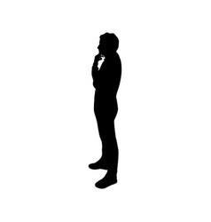 icon man thinking vector image