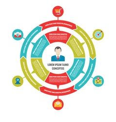 Infographic Business Circle Concept with Icons vector image