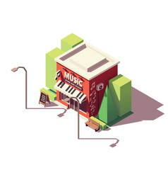 Isometric musical instrument store vector