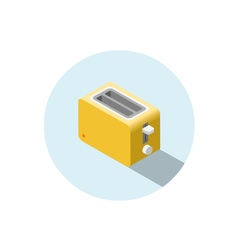 isometric yellow toaster kitchen equipment icon vector image