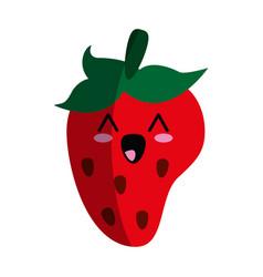 kawaii strawberry icon image vector image