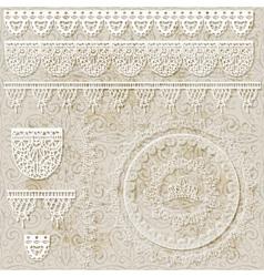 lacy scrapbook design patterns vector image vector image