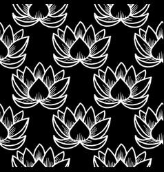 Lotus seamless pattern oriental traditional vector