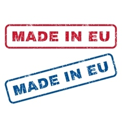 Made In Eu Rubber Stamps vector