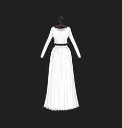 marriage ceremony wedding dress model vector image