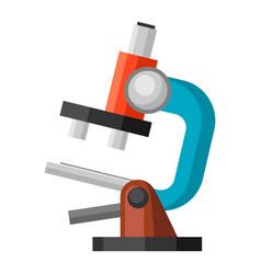 Microscope icon for medicine vector