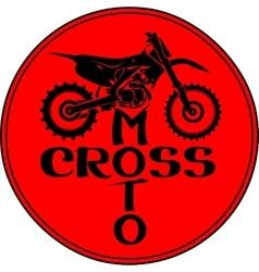 Motocross dirt-bike round sign vector image