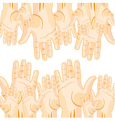 much extended hands vector image vector image