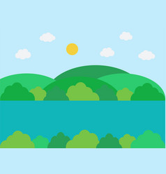 natural landscape in the flat simple style vector image