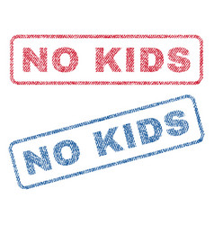 No kids textile stamps vector