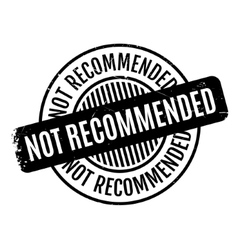 Not Recommended rubber stamp vector