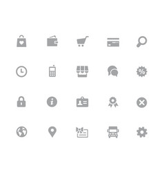 online store icons 32 pixels icons white series vector image