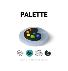 Palette icon in different style vector