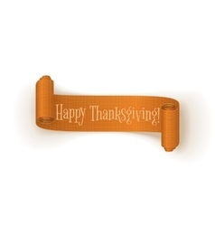 Realistic curved Thanksgiving orange Banner vector