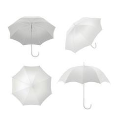 realistic umbrellas rain protection symbol vector image