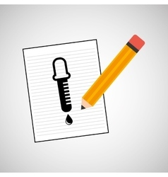 research chemical dropper drawing icon vector image