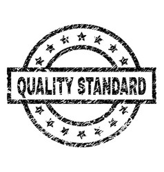Scratched textured quality standard stamp seal vector