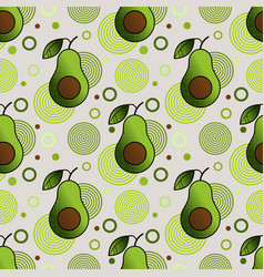 Seamless pattern with sprinkled avocado vector