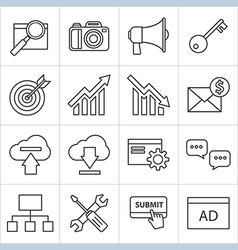 Seo thin line icon vector