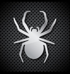 spider shape on a circular grid vector image