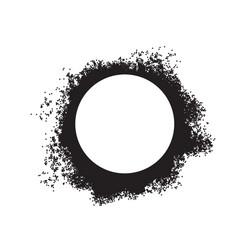spray painted circle dot frame paint circular vector image